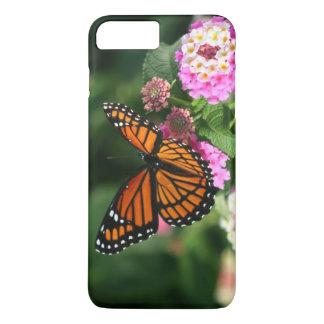 De mooie Vlinder van de Monarch op Bloem Lantana iPhone 8/7 Plus Hoesje