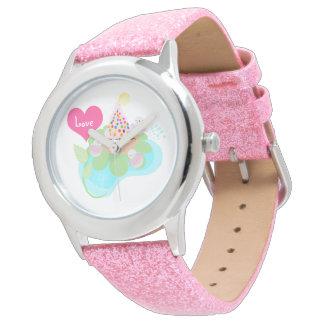 De mooie vogels van de Ballerina met muffinhorloge Horloges