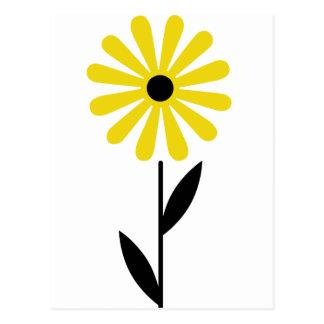 De mooie Volks Retro Gele Bloem van de Kunst Briefkaart