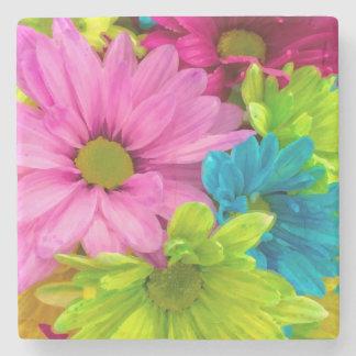 De mooie Waterverf bloeit Boeket Stenen Onderzetter