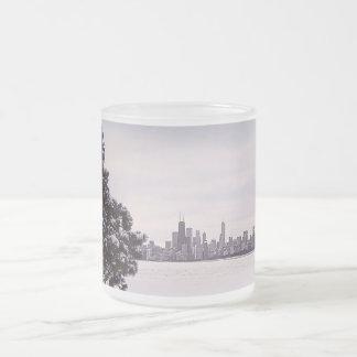 de mooie winter Chicago - berijpte glasmok Matglas Koffiemok
