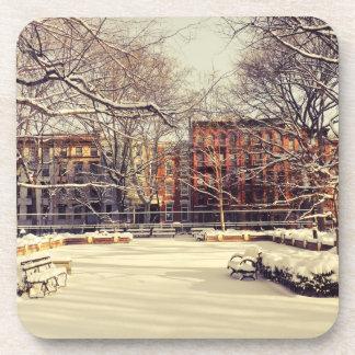 De mooie Winter van New York Drankjes Onderzetters