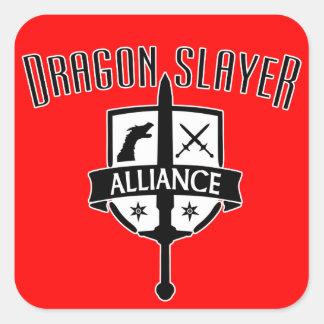 De Moordenaar Alliance van de draak Vierkante Sticker