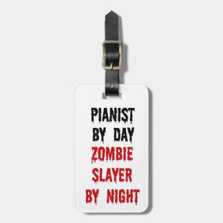 De Moordenaar van de Zombie van de pianist Kofferlabel