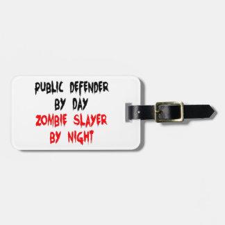 De Moordenaar van de Zombie van het advocaat pro d Bagagelabel
