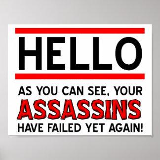 De moordenaars ontbraken Grappig Poster