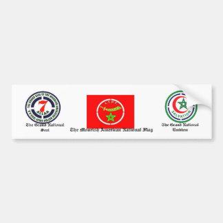 De Moorse Amerikaanse Nationale Sticker van de Bum