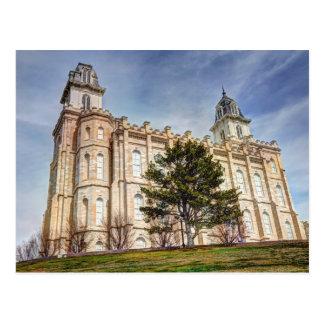 De Mormoonse Tempel van Manti LDS Briefkaart