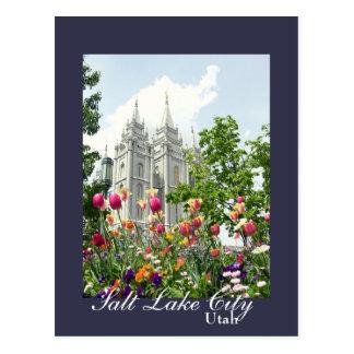 De Mormoonse Tempel van Salt Lake City, Utah Briefkaart