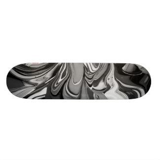 De Morserij van de kleur (in Zwart-wit) 19,7 Cm Skateboard Deck