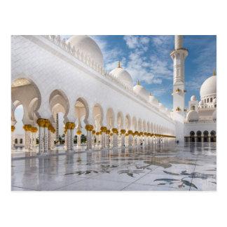 De moskee van Zayed van de sjeik Briefkaart