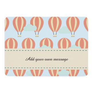 De Motieven van de Ballons van de hete Lucht 12,7x17,8 Uitnodiging Kaart