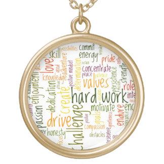 De motivatie positieve aanmoediging van Woorden #2 Goud Vergulden Ketting