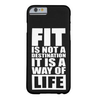 De Motivatie van de geschiktheid - de Pasvorm is Barely There iPhone 6 Hoesje