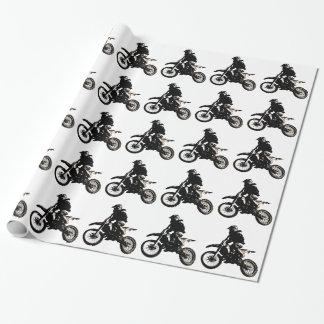 De Motocross van de motorfiets Cadeaupapier