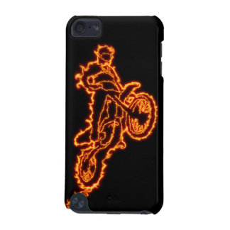 De motocrossruiter van het vrije slag in vlammen iPod touch 5G hoesje