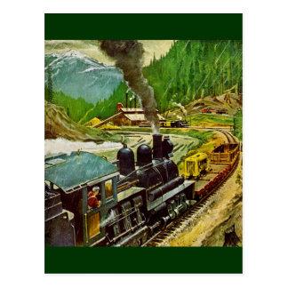 De Motor van de stoom Briefkaart