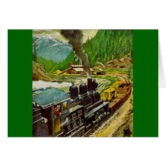 De Motor van de stoom Briefkaarten 0