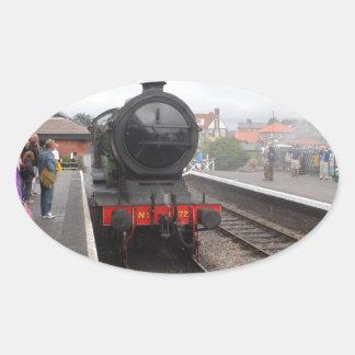 De Motor van de stoom in Sheringham Ovale Sticker
