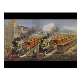 De Motoren van de stoom Briefkaart