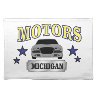 De motoren van Michigan Placemat