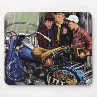 De Motorfiets van Tex Muismat