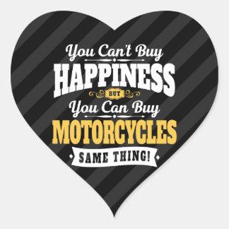 De motorrijder schuint koopt Geluk kan Motorfiets Hart Sticker