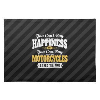 De motorrijder schuint koopt Geluk kan Motorfiets Placemat