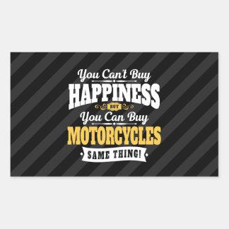 De motorrijder schuint koopt Geluk kan Motorfiets Rechthoekige Sticker