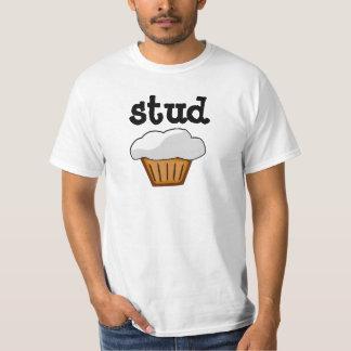 De Muffin van de nagel, Zwart-witte Grappige T Shirt