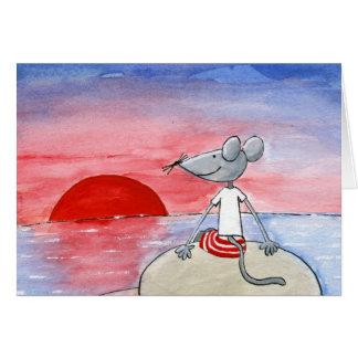 De Muis die van de zonsondergang Kaart wensen