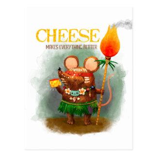 De Muis en de Kaas van het hol Briefkaart