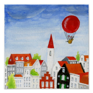 De Muis van de ballon & het Poster van Daken
