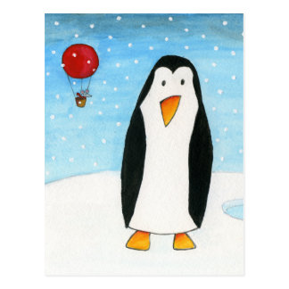 De Muis van de ballon & Pinguïn #2 Briefkaart