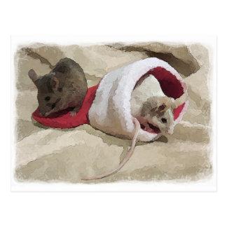"""De """"muizen van Kerstmis"""" Briefkaart"""