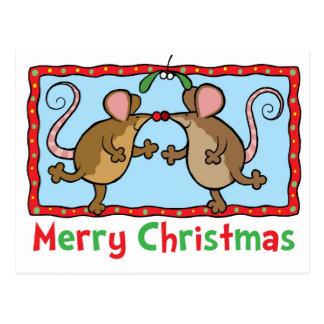 De muizen van Kerstmis Briefkaart