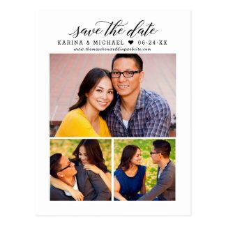 De multi-foto bewaart de Datum   Moderne Briefkaart