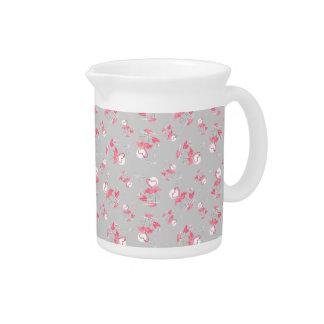 De Multiwaterkruik van de Liefde van de flamingo Drink Pitcher