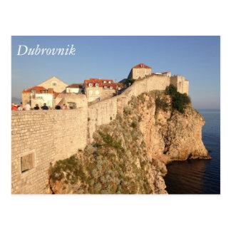 De Muren van de Stad van Dubrovnik Briefkaart