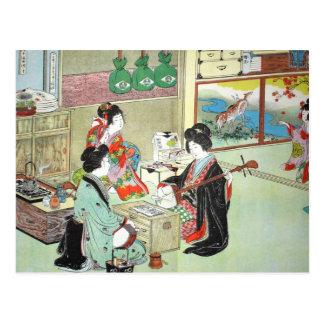 De musici - Devoirs Japans Collectie Briefkaart