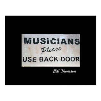 De musici te gebruiken gelieve Achterdeur Briefkaart