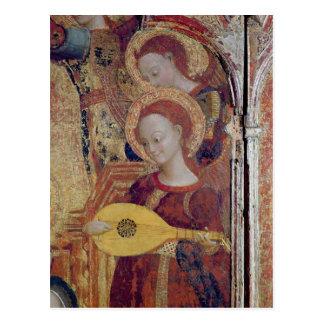 De musici van de engel van het schilderen van briefkaart