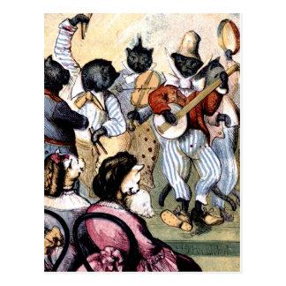 De Musici van de kat Briefkaart