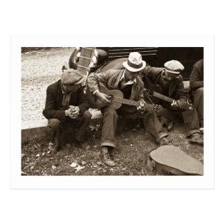 De musici van de straat, Maynardville, Tennessee, Briefkaart