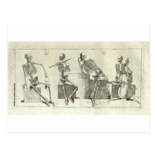 De Musici van het skelet Briefkaart