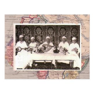 De musici van Morrocan Briefkaart