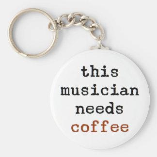 de musicus heeft koffie nodig sleutelhanger