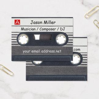 De Musicus van de Band van de cassette Visitekaartjes