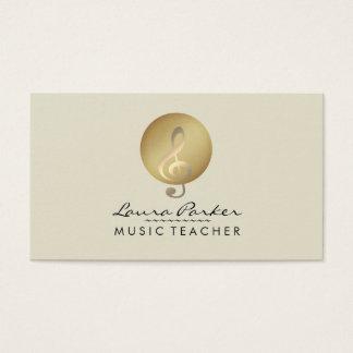 De Musicus van de Muzieknoot van de Room van de Visitekaartjes