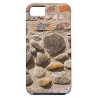 De muur van de baksteen en van de steen tough iPhone 5 hoesje